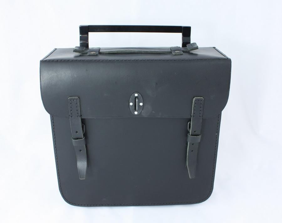 leather bag black